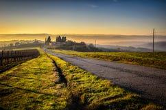 Uma estrada perto de Todi Imagem de Stock Royalty Free