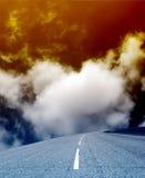 Uma estrada vazia Fotos de Stock Royalty Free
