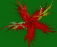 Uma estrela do fractal da pena ilustração royalty free