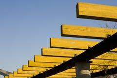 Uma estrutura de madeira Imagens de Stock Royalty Free