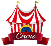 Uma etiqueta do circo Fotografia de Stock Royalty Free