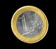 Uma euro- moeda Imagens de Stock Royalty Free