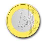 Uma euro- moeda Imagens de Stock