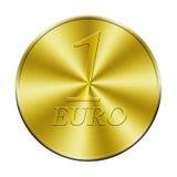 Uma euro- moeda dourada Imagem de Stock Royalty Free