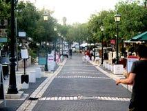 Uma excursão das ruas de Zichron Yaacov foto de stock