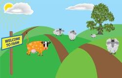 Uma exploração agrícola Imagem de Stock Royalty Free
