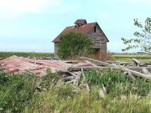 Uma exploração agrícola abandonada Fotografia de Stock