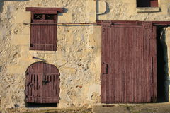 Uma exploração agrícola francesa velha Fotografia de Stock Royalty Free