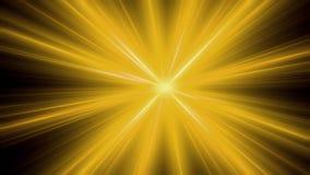 Uma explosão maciça do planeta com raios lisos Ilustração do Vetor