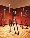 Uma exposição de arte dentro do museu de New Britain da arte americana imagem de stock