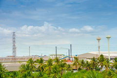Uma fábrica industrial Fotos de Stock