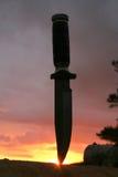 Uma faca de caça Imagem de Stock Royalty Free