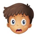 Uma face de um menino ilustração stock