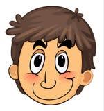 Uma face do menino ilustração do vetor