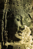 Uma face no templo de Bayon Foto de Stock