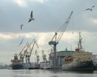 Uma facilidade portuária em St Petersburg, Rússia Foto de Stock Royalty Free