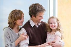 Uma família fotografia de stock royalty free