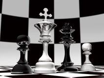 Uma família da xadrez Fotografia de Stock Royalty Free