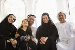 Uma família do Oriente Médio imagem de stock royalty free