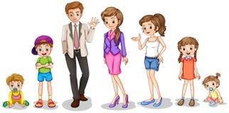 Uma família grande ilustração royalty free