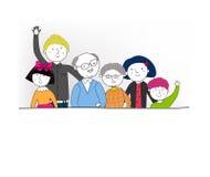 Uma família grande Fotos de Stock Royalty Free