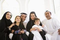 Uma família do Oriente Médio Imagens de Stock Royalty Free