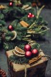 Uma fantasia sobre o tempo do Natal fotografia de stock