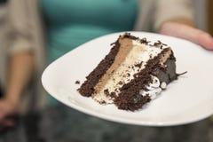 Uma fatia de bolo Foto de Stock Royalty Free