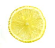 Uma fatia de limão imagens de stock royalty free