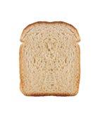 Uma fatia de pão do trigo isolou-se Fotos de Stock Royalty Free