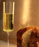 Uma fatia de Panettone Foto de Stock Royalty Free