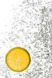 Uma fatia de Tangerine Fotografia de Stock