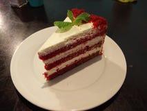 Uma fatia de veludo vermelho Foto de Stock Royalty Free