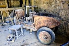 Uma fábrica do ocre de Roussillon da oficina Foto de Stock Royalty Free