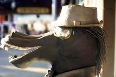 Uma figura de um cavalo do metal fotos de stock