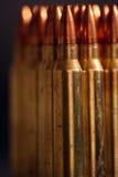 Uma fileira da munição Imagem de Stock