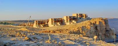 Uma fileira de casas do deserto em Israel Imagem de Stock