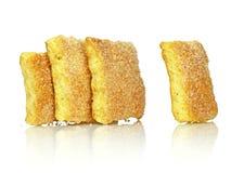 Uma fileira dos bolinhos Imagem de Stock