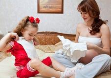 Uma filha e sua matriz Fotografia de Stock