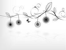 Uma filial de árvore com flores Imagens de Stock