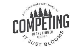 Uma flor não pensa da competência à flor ao lado dela ilustração royalty free