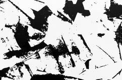 Uma folha de metal coberta com a pintura riscada imagem de stock royalty free