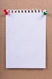 Uma folha de papel de um caderno Foto de Stock Royalty Free
