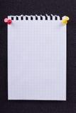 Uma folha de papel de um caderno Imagens de Stock Royalty Free