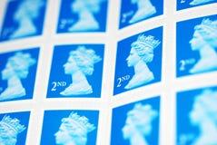 Uma folha de selos de porte postal Foto de Stock Royalty Free
