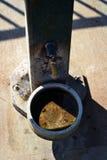 Uma fonte de água do cão em um parque Imagem de Stock