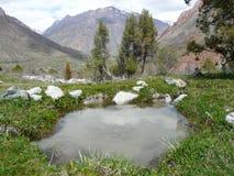 Uma fonte nas montanhas Fotografia de Stock