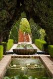 Uma fonte no Generalife do Alhambra Fotografia de Stock Royalty Free