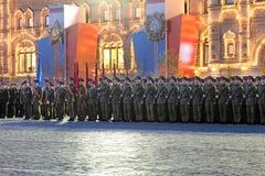 Uma formação de soldados Imagens de Stock