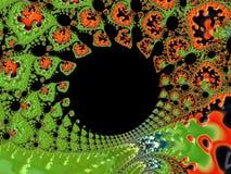 Uma forma abstrata dos Fractals Imagem de Stock